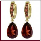14K Solid Gold 13.0 CT Natural Garnet Dangle Earrings