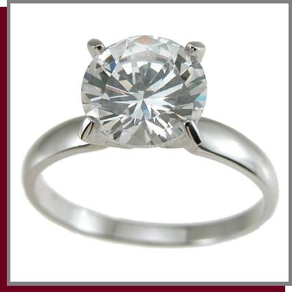 1.0 CT Brilliant Cut Solitaire Sterling Silver Ring