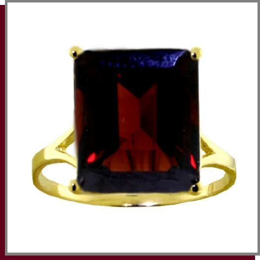 14K Solid Gold 7.0 CT Natural Garnet Ring SZ 5 - 9