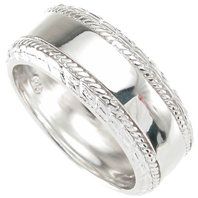 Mens .925 Sterling Silver Wedding Band SZ 8 - 12