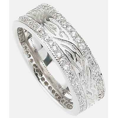 Men's Tiffany Style Solid Sterling Silver Wedding Band