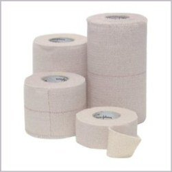 "Elastikon Elastic Cloth Adhesive Bandage 3"" wide x 2.5yd Pkg of 4 Johnson & Johnson"