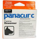 Panacur C Canine for Large Dogs Dewormer 4-Gram Packages (Each Packet Treats 40 lbs), 3ct.