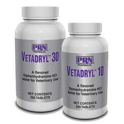 Vetadryl 30 (Benadryl for dogs) 250 Chewable Tablets *FREE SHIPPING*