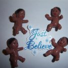 "Sitting Small Babies 1"" Baby Shower Favors 24 ETHNIC / BROWN"