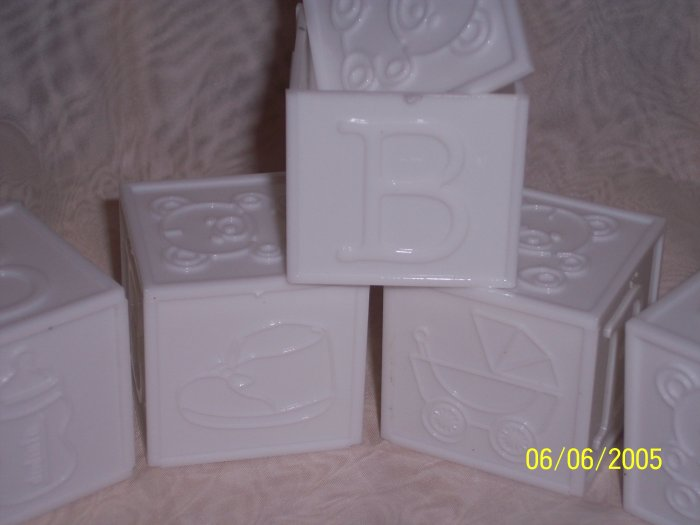 """Block Lid 2""""x2""""x2"""" Baby Shower Favor 12 WHITE SOLID"""