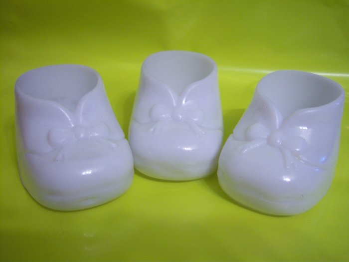 """Bootie White Baby Shower Favor Hard 24 Different Color 3"""""""
