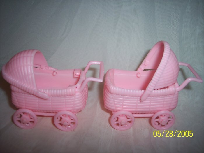 "Carriage / Buggie Baby Shower Favors 2.5"" Pink 24"