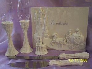 Cinderella Carriage Wedding Quinceanera Anniversary Accesories White XV Anos