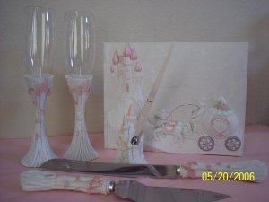 Cinderella Carriage Wedding Quinceanera Anniversary Accesories Pink XV Anos