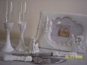 Cinderella Run Away Bride Wedding Anniversary Accesories White