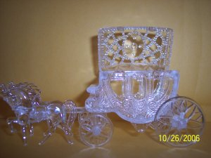 Cinderella Carriage Wedding Favors Clear 100