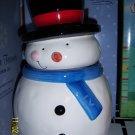 Christmas Cookie Jar Snowman Sakura Oneida Earthenware NIB