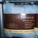 Grandeur Luxury Towels 4 pc Powder Blue NEW