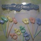 72 Baby Shower Picks 6 Dozen Bottle Feet Pacifiers Party Food Picks