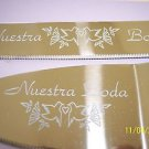 Cake Server & Knife Set Nuestra Boda & Doves Stainless Steel Clear Handle