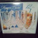 Goblets Iced Tea Beverage Glassware Set Crystal 12 Dublin Godinger Shannon NIB