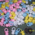 """Baby Shower Small Plastic Pacifiers 5/8"""" Party Favors Pink Blue White Yellow"""