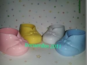 Bootie Shoes Baby Shower Favor Hard 24 Pink Blue White Yellow 3""