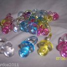 """Baby Shower Medium Plastic Pacifiers 1 1/4"""" Party Favors Pink Blue White Yellow"""