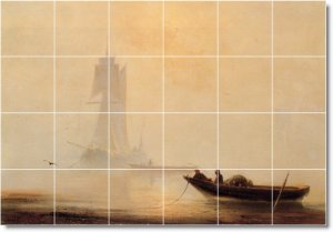 Aivazovsky Waterfront Murals Wall Shower Home Construction Idea
