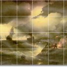 Aivazovsky Waterfront Tile Wall Mural Room Idea Remodeling Home