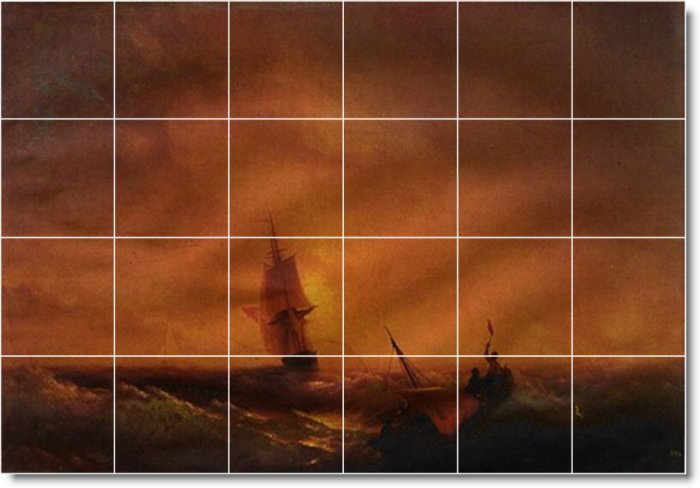 Aivazovsky Waterfront Dining Mural Wall Room Wall Remodel Floor