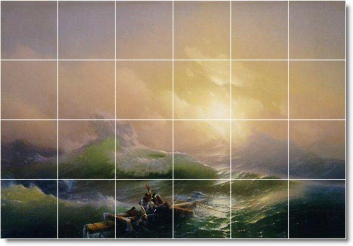 Aivazovsky Waterfront Room Murals Tile Dining Wall Floor Design