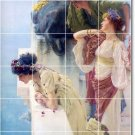 Alma-Tadema Women Tiles Mural Room Living Interior Ideas Renovate