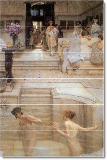 Alma-Tadema Nudes Room Mural Tile Interior Idea Design Remodeling
