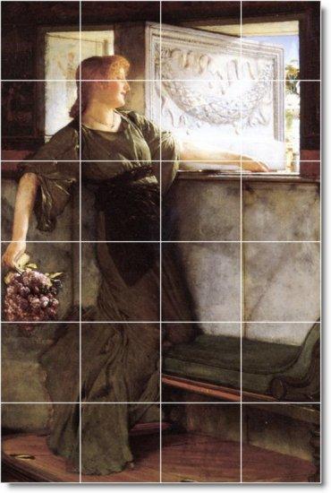 Alma-Tadema Women Mural Room Tile Remodeling Design Interior Idea