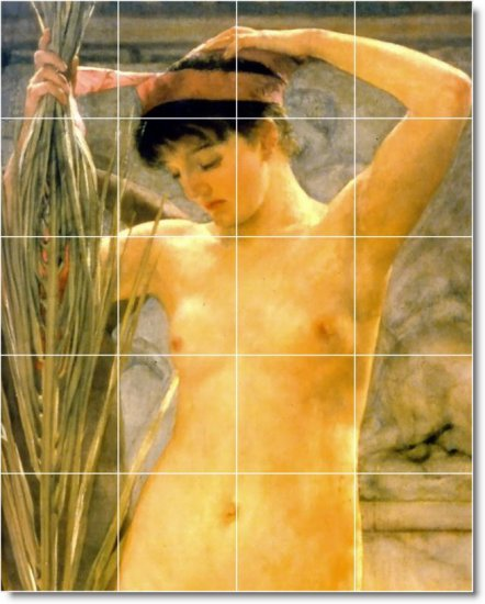 Alma-Tadema Nudes Living Room Tile Murals House Design Renovation