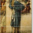 Alma-Tadema Historical Mural Tile Room Living Design Remodeling