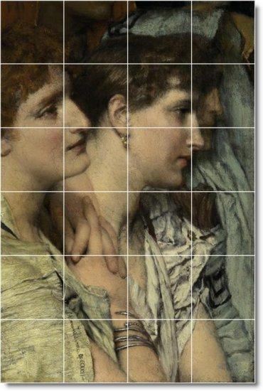 Alma-Tadema Women Living Murals Room Tile Design Renovation House