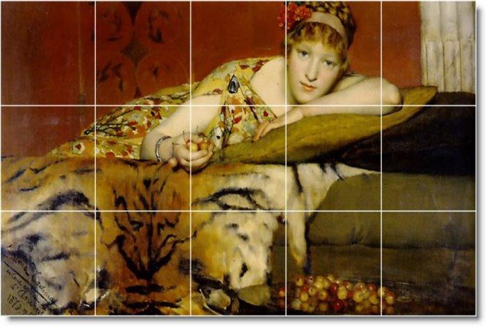 Alma-Tadema Women Mural Kitchen Floor Construction Decorate House