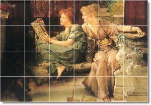 Alma-Tadema Women Mural Floor Kitchen Decorate House Construction