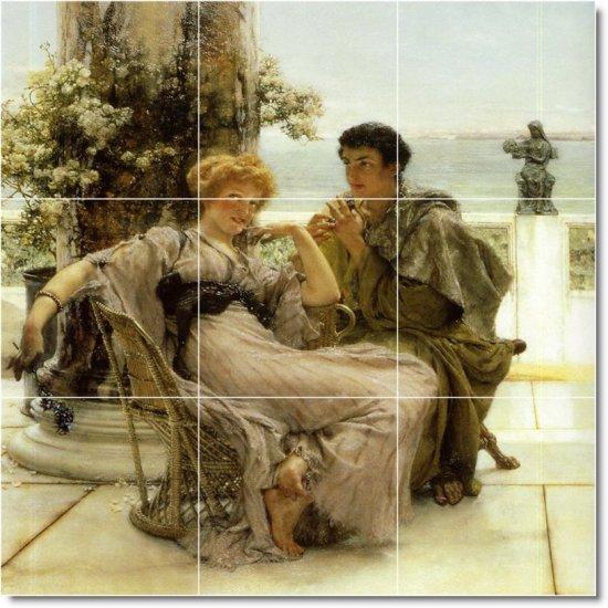 Alma-Tadema Men Women Dining Tiles Room Mural Decor Commercial