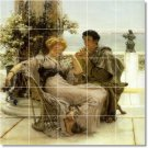 Alma-Tadema Men Women Living Room Tile Mural Home Decor Design