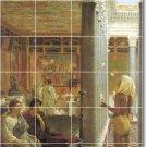 Alma-Tadema Historical Wall Tiles Mural Room Design Modern Home