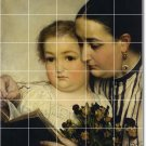 Alma-Tadema Mother Child Room Wall Tiles Interior Renovate