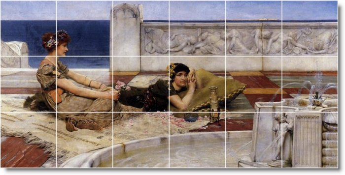 Alma-Tadema Women Mural Backsplash Kitchen Wall Tiles Home Modern