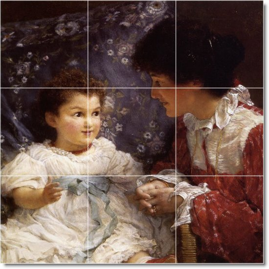 Alma-Tadema Mother Child Room Tiles Wall Renovate Interior