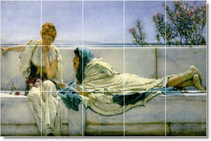 Alma-Tadema Women Room Mural Dining Wall Wall Ideas Home Renovate