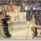 Alma-Tadema Men Women Mural Tile Living Room Remodeling Design