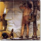 Alma-Tadema Historical Shower Tile Home Contemporary Remodeling