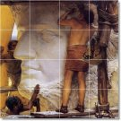 Alma-Tadema Historical Tile Shower Home Remodeling Contemporary