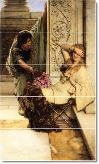 Alma-Tadema Men Women Mural Tile Room Living Design Remodeling