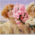Alma-Tadema Children Mural Tiles Backsplash Construction Modern