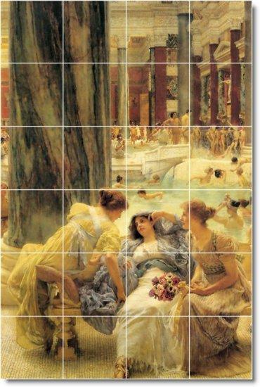 Alma-Tadema Women Living Mural Room Tiles Wall Remodel Home Decor
