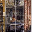 Alma-Tadema Historical Murals Shower Interior Renovation Modern